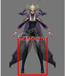 League of Legends LOL Coven Ashe Black Shoes Cosplay Boots