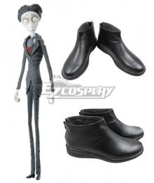 Corpse Bride Victor Van Dort Halloween Black Cosplay Shoes New Edition