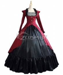 Women Girls Gothic Lolita Long Sleeves Classic Lolita Dress Multi Colors Costume 1C