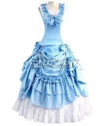 Women Girls Gothic Lolita Sleeveless Classic Lolita Dress Multi Colors Costume 1D
