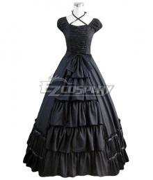 Women Girls Gothic Lolita Sleeveless Classic Lolita Dress Multi Colors Costume 1F