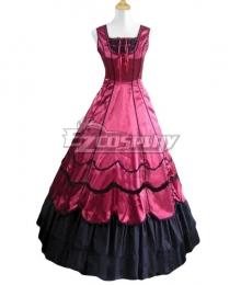 Women Girls Gothic Lolita Sleeveless Classic Lolita Dress Multi Colors Costume 1G