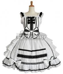 Women Girls Gothic Lolita Sleeveless Classic Lolita Dress Multi Colors Costume 1L
