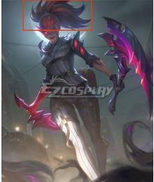 League of Legends LOL Crime City Nightmare Akali Orange Purple Cosplay Wig