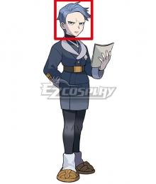 Pokemon Pokémon Legends: Arceus Captain Cyllene Blue Cosplay Wig