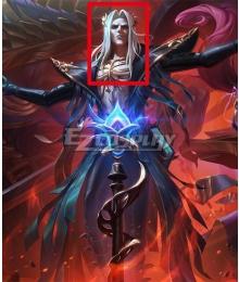 League of Legends LOL Pentakill III Lost Chapter Karthus White Cosplay Wig