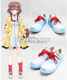 Hololive Virtual YouTuber Inugami Korone Blue Cosplay Shoes
