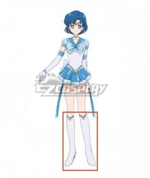 Sailor Moon Eternal 2 Mizuno Ami Sailor Mercury  White Cosplay Boots