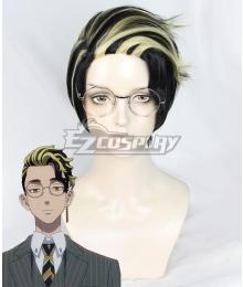 Tokyo Revengers Shuji Hanma After 12 Years Black Golden Cosplay Wig