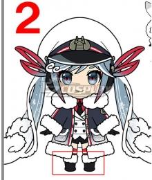 Vocaloid 2022 Snow Miku Hatsune Miku Black Shoes Cosplay Boots