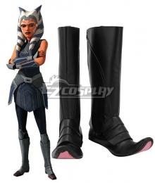 Star Wars The Clone Wars Ahsoka Tano Black Shoes Cosplay Boots