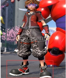 Kingdom Hearts III Kingdom Hearts 3 Sora Big Hero 6 Red Shoes Cosplay Boots