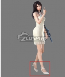 Final Fantasy VIII FF8 Rinoa Heartilly White Shoes Cosplay Boots