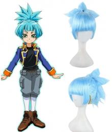 Yu-Gi-Oh! Yugioh ARC-V Sora Shiunin Blue Cosplay Wig
