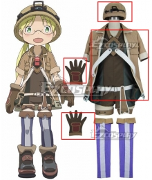 Made in Abyss Riko Cosplay Costume - Helmet Gloves And Jacket