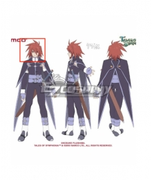 Tales of Symphonia Kratos Aurion Red Cosplay Wig