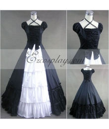 Sapphire Blue Sleeveless Gothic Lolita Dress-LTFS0037