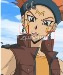Yu-Gi-Oh! Yugioh 5D's Crow Hogan  Earrings Cosplay Accessory Prop