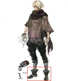 Octopath Traveler Therion Black Cosplay Shoes