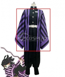 Demon Slayer: Kimetsu no Yaiba Obanai Iguro Purple Cosplay Costume Only Coat