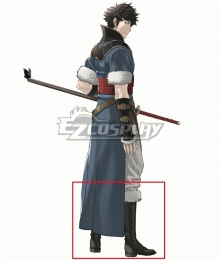 Fire Emblem: Awakening Lonqu Ronku Ronkuu Black Shoes Cosplay Boots