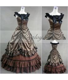 Sepia Sleeveless Gothic Lolita Dress-LTFS0005