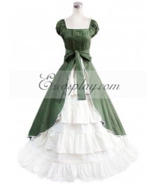 Green Sleeveless Gothic Lolita Dress-ELT0167