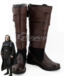 Star Wars The Last Jedi Luke Skywalker Brown Shoes Cosplay Boots