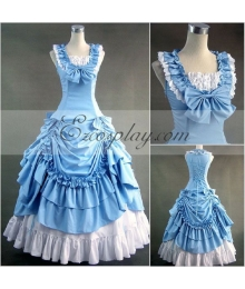 Blue Sleeveless Gothic Lolita Dress-LTFS0068