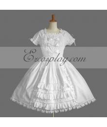 White Gothic Lolita Dress -LTFS0072