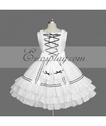 White Gothic Lolita Dress -LTFS0074
