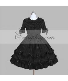 Black Gothic Lolita Dress -LTFS0090