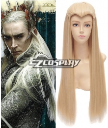 The Lord Of The Rings Hobbit Thranduil Elvenking Blonde braid long cosplay wig