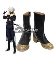 Touken Ranbu Nakigitsune Black Shoes Cosplay Boots