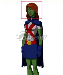 DC Young Justice Miss Martia Megan Morse Brown Long Cosplay Wig