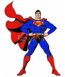 DC Superman Clark Kent Classic Red Cosplay Costume - A Version