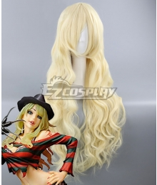 A Nightmare on Elm Street Freddy Krueger Female Halloween Light Golden Cosplay Wig