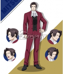 Ace Attorney Season 2 Miles Edgeworth Cosplay Costume