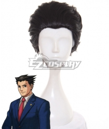 Ace Attorney Season 2 Phoenix Wright Black Cosplay Wig