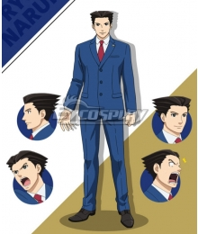 Ace Attorney Season 2 Phoenix Wright Cosplay Costume