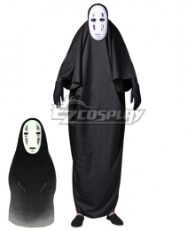Adult And Kids Hayao Miyazaki Spirited Away No-Face No Face Kaonashi Halloween Cosplay Costume