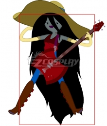Adventure Time Marceline Black Cosplay Wig