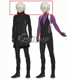Ai The Somnium Files Kaname Date Grey Cosplay Wig