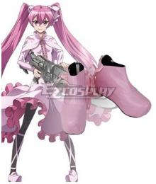 Akame Ga Kill! Night Raid Main Mine Pink Cosplay Shoes