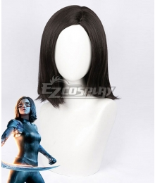 Alita: Battle Angel Alita Black Brwon Cosplay Wig