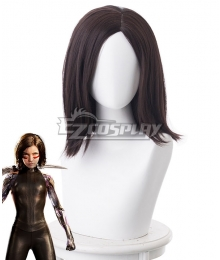 Alita: Battle Angel Alita Dark Brown Cosplay Wig - 405I