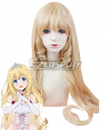 Amagi Brilliant Park Amagi Buririanto Paku Latifah Fullanza Ratifa Fururanza Golden Cosplay Wig