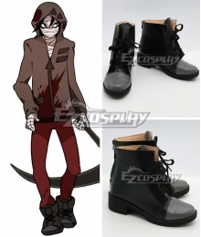 Angels of Death Satsuriku no Tenshi Game Zack Black Shoes Cosplay Boots