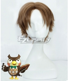 Animal Crossing: New Horizon Blathers Brown Cosplay Wig