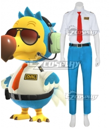 Animal Crossing: New Horizon Wilbur Dodo Bird Orville Cosplay Costume - Blue Pants Edition